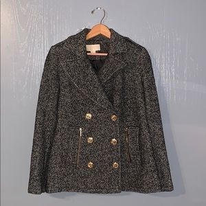 MICHAEL KORS DOUBLE BREASTED PEA COAT
